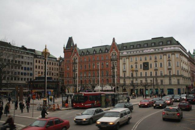 Stockholm, Sweden - Norrmalmstorg - on a business trip
